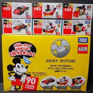 TOMICA – Disney Motors Mickey Mouse 90 Years Of Magic Edition Vehicles Set