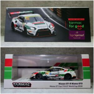 Tarmac Works – Nissan GT-R Nismo GT3 Macau GT Cup FIA GT World Cup 2018 #23 with Oil Can