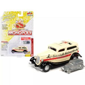 Johnny Lightning – Monopoly 85th Anniversary 1933 Ford Panel Delivery Truck and Game Token
