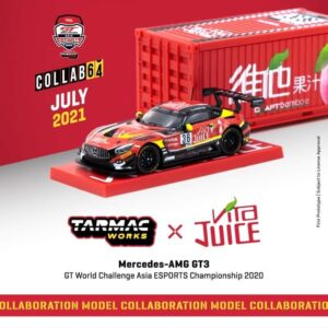 Tarmac Works – Mercedes AMG GT3 (Red) GT World Challenge Asia ESPORTS Championship 2020 with Container